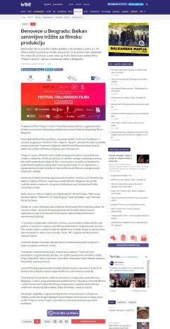 1609 - b92.net - Djenoveze u Beogradu- Balkan zanimljivo trziste za filmsku produkciju