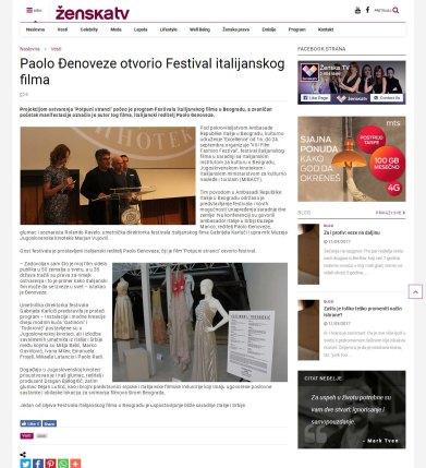 1709 - zenska.tv - Paolo Djenoveze otvorio Festival italijanskog filma