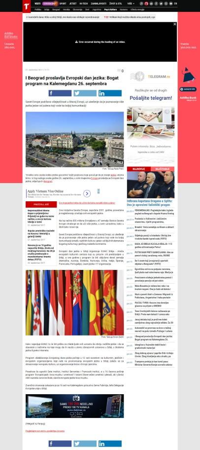 2109 - telegraf.rs - I Beograd proslavlja Evropski dan jezika- Bogat program na Kalemegdanu 26. septembra