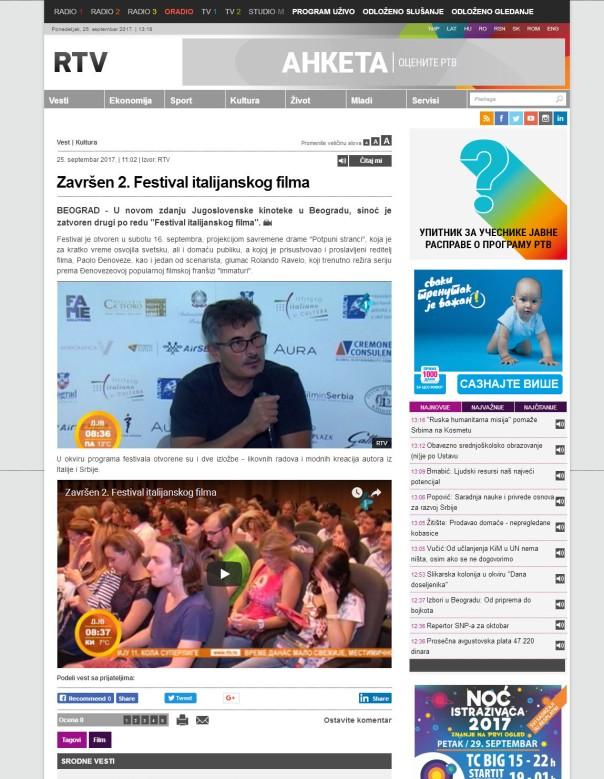 2509 - rtv.rs - Zavrsen 2. Festival italijanskog filma