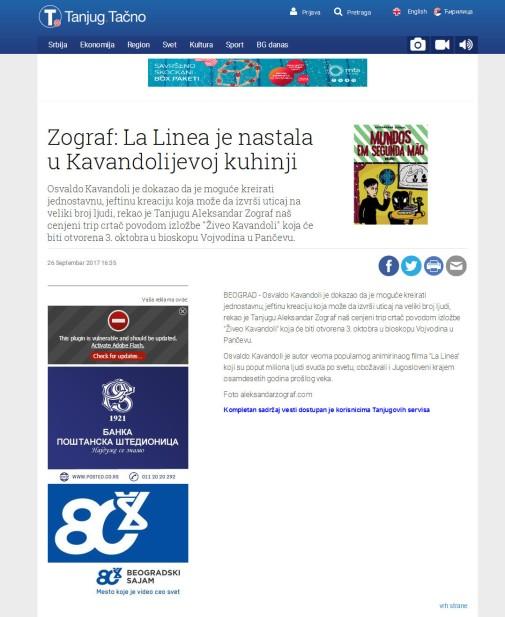 2609 - tanjug.rs - Zograf- La Linea je nastala u Kavandolijevoj kuhinji