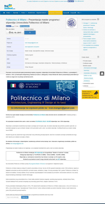 2709 - najstudent.com - Prezentacija master programa i stipendija Univerziteta Politecnico di Milano.jpg