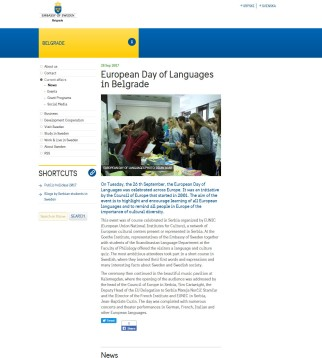 2809 - swedenabroad.com - European Day of Languages in Belgrade