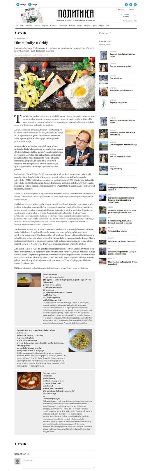 0112 - politika.rs - Ukusi Italije u Srbiji