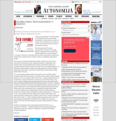 0210 - autonomija.info - Izlozba stripa Ziveo Kavandoli u Pancevu