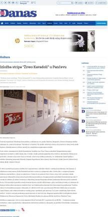 0210 - danas.rs - Izlozba stripa Ziveo Kavadoli u Pancevu