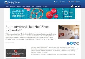 0210 - tanjug.rs - Sutra otvaranje izlozbe Ziveo Kavandoli
