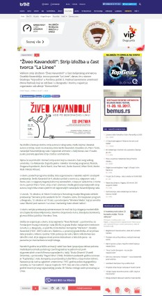 0310 - b92.net - Ziveo Kavandoli!- Strip izlozba u cast tvorca La Linee
