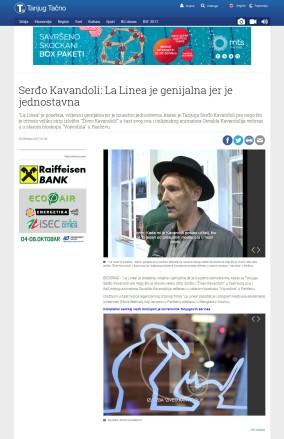 0310 - tanjug.rs - Serdjo Kavandoli- La Linea je genijalna jer je jednostavna