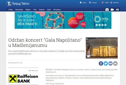 0312 - tanjug.rs - Odran koncert Gala Napolitano u Madlenijanumu