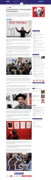 0410 - b92.net - Serdjo Kavandoli- La Linea je genijalna jer je jednostavna