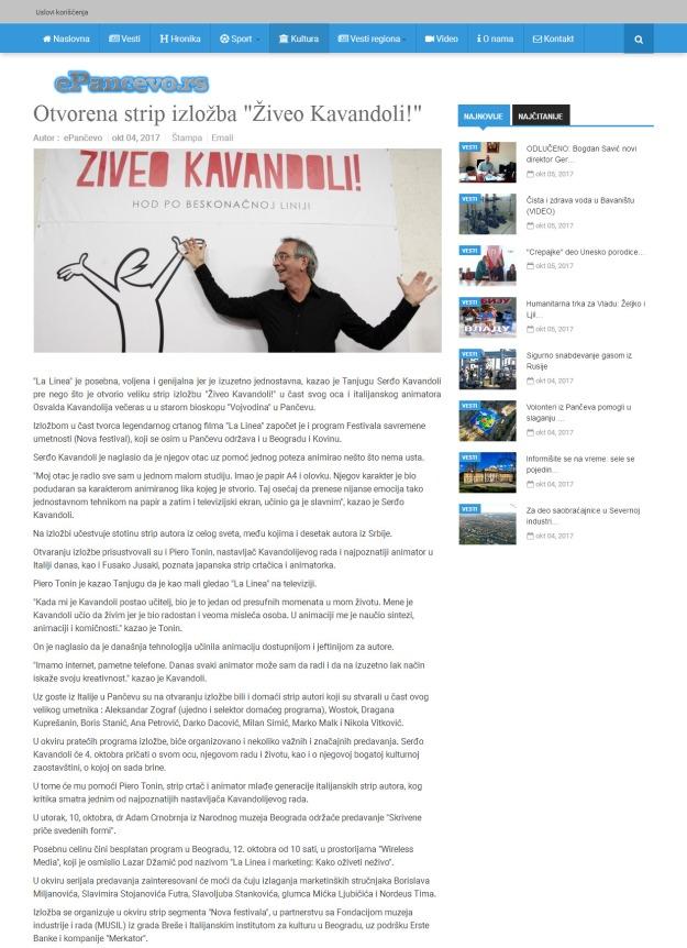 0410 - epancevo.rs - Otvorena strip izlozba Ziveo Kavandoli