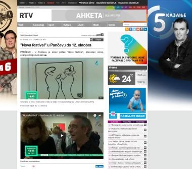 0410 - rtv.rs - Nova festival u Pancevu do 12. oktobra
