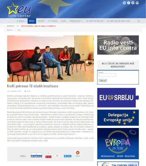0512 - euinfo.rs - KreNI pokrenuo 70 mladih kreativaca