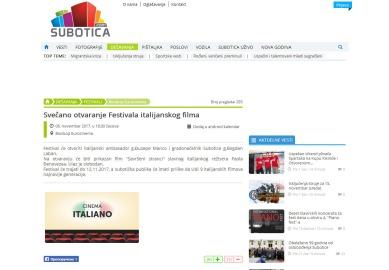 0611 - subotica.com - Svecano otvaranje Festivala italijanskog filma