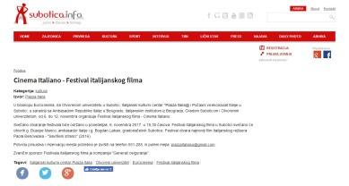 0611 - subotica.info - Cinema Italiano - Festival italijanskog filma