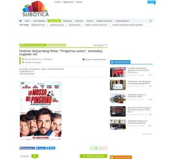 0811 - subotica.com - Festival italijanskog filma- Pingvinov potez, komedija, engleski titl