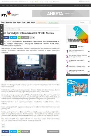 0812 - rtv.rs - Prvi Sumadijski internacionalni filmski festval