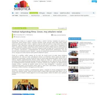 0911 - subotica.com - Festival italijanskog filma- Zoran, moj otka-ìeni ne-çak