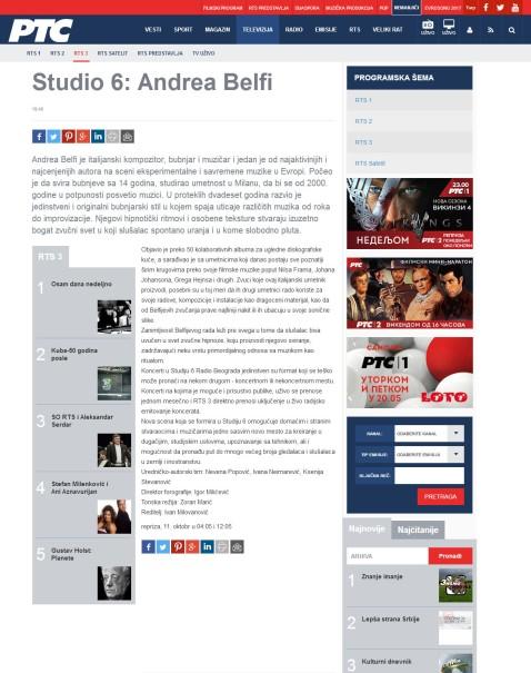 1010 - rts.rs - Sudio 6- Andrea Belfi