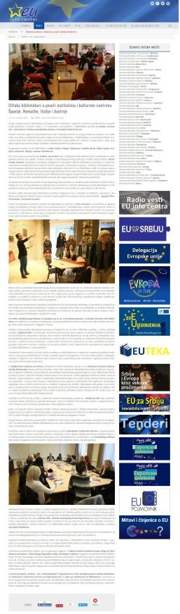 1011 - euinfo.rs - EUteka bibliotekari u poseti institutima i kulturnim centrima Spanije, Nemacke, Italije i Austrije