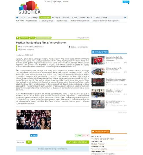 1211 - subotica.com - Festival italijanskog filma- Verovali smo - Otvoreni univerzitet - 12.11.2017