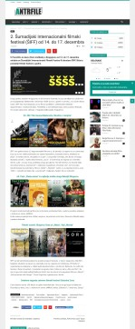 1212 - antrfile.rs - 2. Sumadijski Internacionalni filmski festival (SIFF) od 14. do 17. decembra