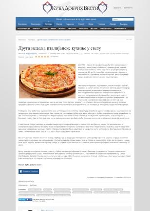 1311 - dobrevesti.rs - Druga nedelja italijanske kuhinje u svetu