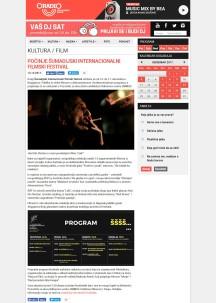1412 - oradio.rs - Pocinje Sumadijski internacionalni filmski festival