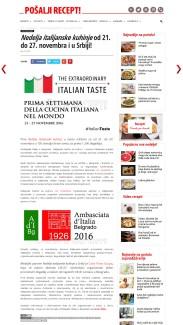 1711 - posaljirecept.rs - Nedelja italijanske kuhinje od 21. do 27. novembra i u Srbiji