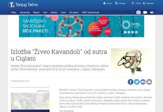 1711 - tanjug.rs - Izlozba Ziveo Kavandoli od sutra u Ciglani