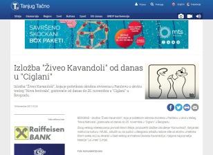 1811 - tanjug.rs - Izlozba Ziveo Kavandoli od danas u Ciglani