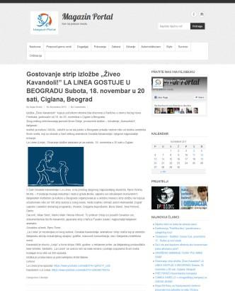 1911 - magazinportal.net - Gostovanje strip izlozbe Ziveo Kavandoli LA LINEA GOSTUJE U BEOGRADU Subota, 18. novembar u 20 sati, Ciglana, Beograd