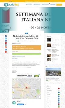 2011 - adriafest.com - Nedelja italijanske kuhinje 20 - 26.11.2017. Campo de Fiori