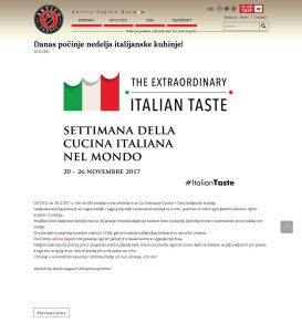 2011 - caffeantico.com - Danas pocinje nedelja italijanske kuhinje