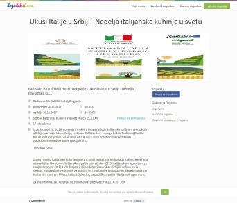 2011 - dogodeksi.com - Ukusi Italije u Srbiji - Nedelja italijanske kuhinje u svetu