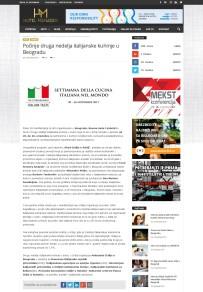 2011 - hotelmanager.rs - Pocinje druga nedelja italijanske kuhinje u Beogradu