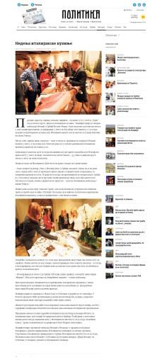 2011 - politika.rs - Nedelja italijanske kuhinje