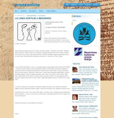 2011 - prozaonline.com - LA LINEA GOSTUJE U BEOGRADU