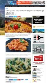 2011 - vojvodjanskevesti.rs - Specijaliteti italijanske kuhinje na vise lokacija u Subotici