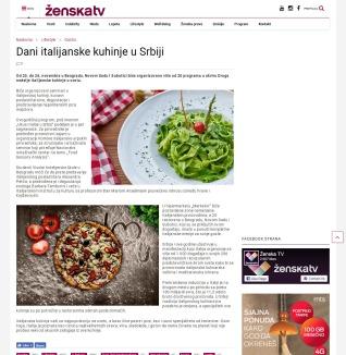 2011 - zenska.tv - Dani italijanske kuhinje u Srbiji
