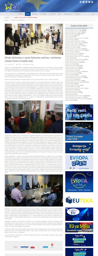 2710 - euinfo.rs - EUteka bibliotekari u poseti kulturnim centrima i institutima zemalja clanica Evropske unije
