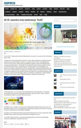 2811 - jugpress.com - Od 30. novembra treca konferencija KreNI