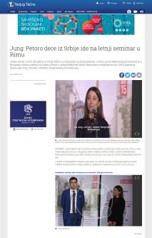 2901 - tanjug.rs - Jung- Petoro dece iz Srbije ide na letnji seminar u Rimu