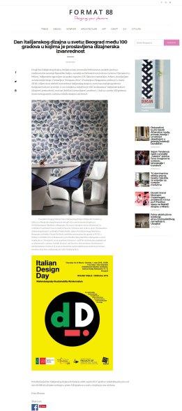 0403 - format88.com - Dan italijanskog dizajna u svetu- Beograd medju 100 gradova u kojima je proslavljena dizajnerska izvanrednost