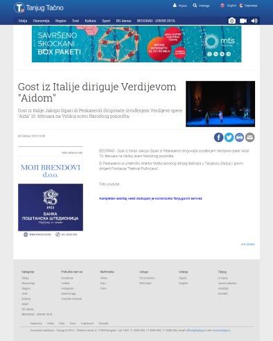 0802 - tanjug.rs - Gost iz Italije diriguje Verdijevom Aidom