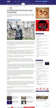1003 - b92.net - U Akvileji izlozba Narodnog muzeja - rimska Srbija