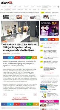 1303 - kurir.rs - OTVORENA IZLOZBA RIMSKA SRBIJA- Blago Narodnog muzeja odusevilo Italijane