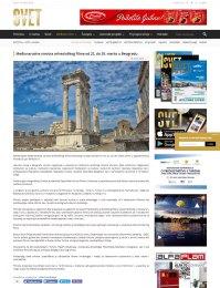 1603 - turistickisvet.com - Medjunarodna smotra arheoloskog filma od 22. do 29. marta u Beogradu