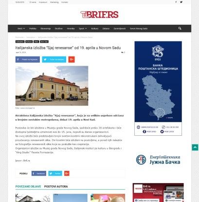0904 - brif.rs - Italijanska izlozba Sjaj renesanse od 19. aprila u Novom Sadu
